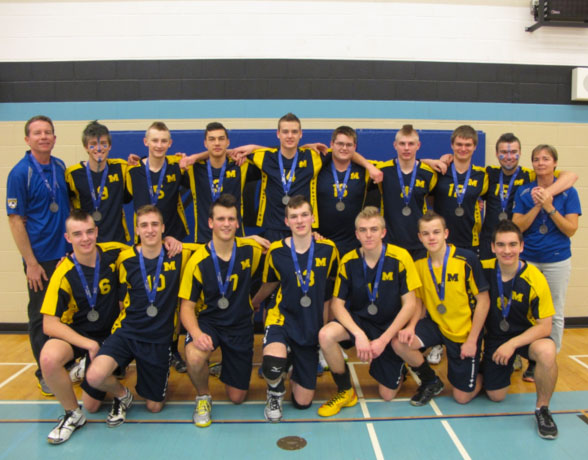 St.Michael-CSS,-2013-Boys-AA-Volleyball-OFSAA-Silver-Medalists