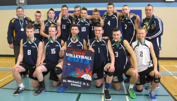 St.Michael-CHS,-2013-Boys-AA-Volleyball-OFSAA-Bronze-Medalists