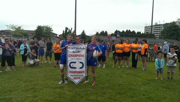 OFSAA 2014 AAA:AAAA Girls Rugby Results Picture