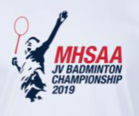 This image has an empty alt attribute; its file name is mhsaa-2019-badminton-Tshirt_Design.jpg
