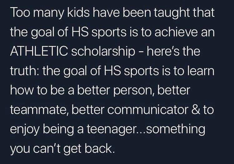 Goal of High School Athletics